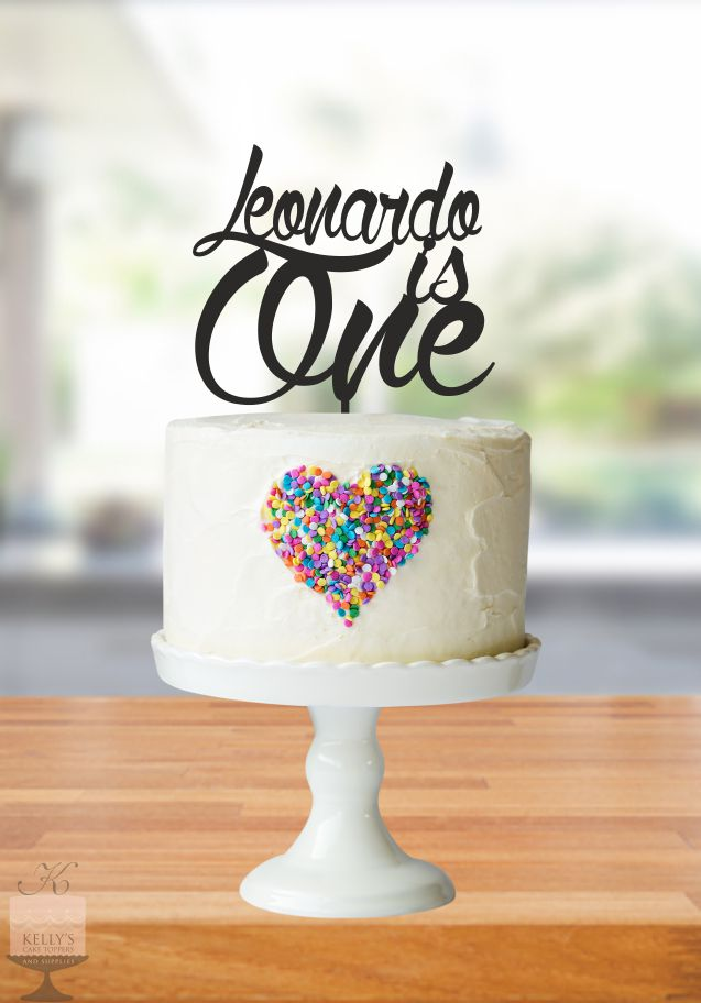 Leonardo Is One Kellys Cake Toppers